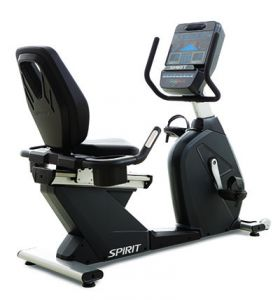 "Spirit CR900 Recumbent Bike, 67"" x 29"" x 49"""