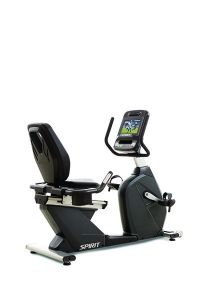 "Spirit CR900ENT Recumbent Bike, 67"" x 29"" x 49"""