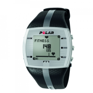 Heart Rate Monitor Watch - Polar FT7M - Black/Silver - for Male