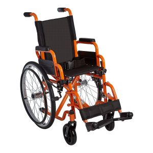 "Ziggo 12"" Wheelchair, Orange"