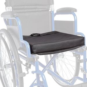"Ziggo 14"" Wheelchair Accessory - Seat Cushion, Black"