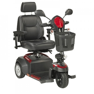 Drive, Scout Compact Travel Power Scooter, 3 Wheel, Extended Battery