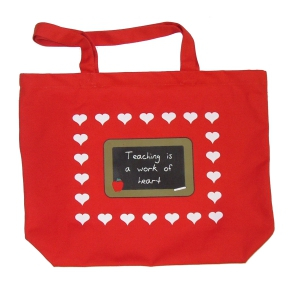 Tote Bag : Teaching is a Work of Heart