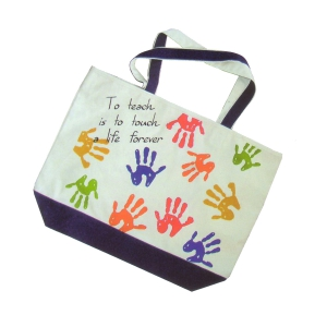 Tote Bag : To Teach is to Touch a Life Forever
