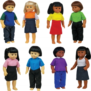 "Set of all 8 16"" Multicultural Dolls"