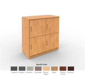 Cubby Storage Unit 2x2, with 4 Cubby