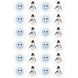 Themed Stickers - 3 sheets - Snowflakes & Snowmen