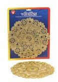 "Doilies - Round 12 ct., 8"" Gold"