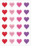 Themed Stickers - 20 Sheets - Happy Hearts