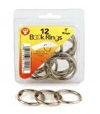 Book Rings - Silver, 36 Rings (9 ea. Of 4 sizes)