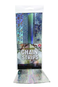 "Super Strips - Chain Strips 1"" x 8"" / 100 Holographic"