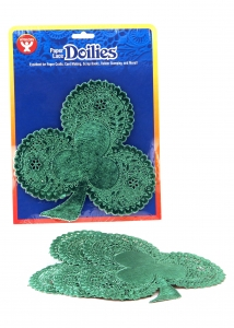 "Shamrocks - 10 ct., 6"" Foil Board, Green"