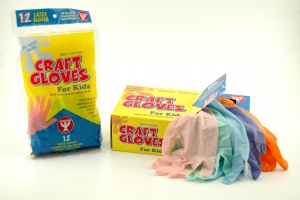 Colored Craft Gloves, 12 of Kids (poly bagged)
