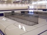 Ceiling Suspended Motorized Retractable Batting Cage Multi-Sport net included 10'H x 12'W x 70'L