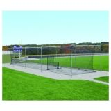 Semi-Permanent Outdoor Batting Tunnel Frames with Sleeves for 12' and 14' nets (not included) 4 wickets 12'H x 55'L