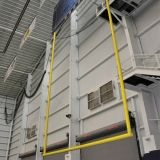 Ceiling Suspended Retractable Football Goal Post Crossbar: 6-5/8 Uprights: 30 ft. tall