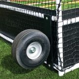 Optional tip & roll wheel kit makes field hockey goals easy to transport