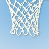 Basketball Nylon Net 12 loop design 680/32 braided white