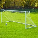 Round Powder Coated Club Goals White Mesh Net Included 6'6H x 12'W x 2'B x 6'D