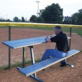 Standard Scorers Table Aluminum 7.5'L x 10W Seat & 19W Table Steel Legs