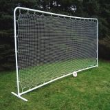 Medium Soccer Rebounder 7.5'H x 18'W white 1.5 square mesh net