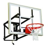 Basketball Adjustable Wall Mounted Shooting Station 7.5'-10'H x 36W x 1/2 Acrylic Backboard
