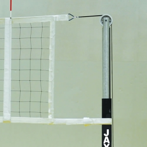Collegiate Net Volleyball System Durable Steel uprights with 16 Pin Stop height adjustment range from 6'6 to 8'2 with Winch