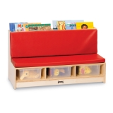 Jonti-Craft Literacy Couch - Red
