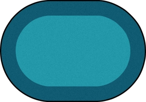 "All Around, 5'4"" x 7'8"" Oval, Teal"