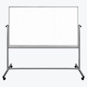 72 x 40 Mobile Magnetic DoubleSided Ghost Grid Whiteboard
