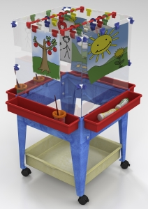 YOUTH 4-STATION SPACE SAVER EASEL