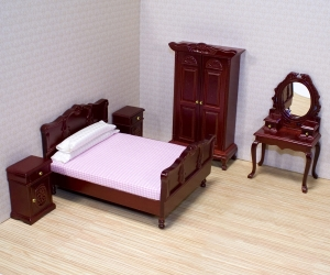 Five-piece bedroom set - Melissa & Doug Victorian Dollhouse