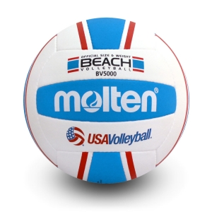 MOLTEN- Official Beach Volleyball with Hand-Stitched Polyurethane Cover, FIVB Approved