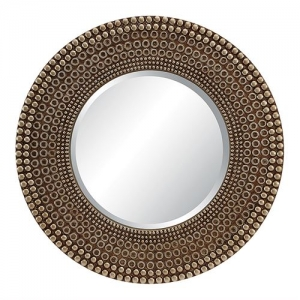 Lyon Wall Mirror in Antique Silver Finish.