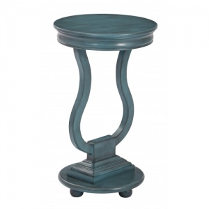 Chase Round Accent Table in Antique