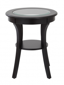 Harper Round Accent Table with Glass