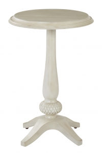 Ava Round Accent Table in Antique