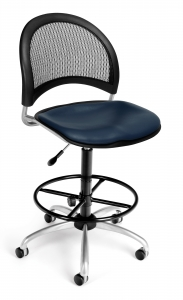 24/7 COMPUTER TASK CHAIR W/ARMS-202-BLUE