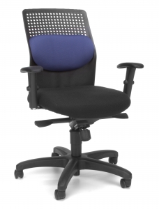 EXECUTIVE KNEE TILT WITH BLUE MESH