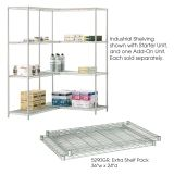 "Industrial Wire Shelving, Extra Shelf Pack, 24 x 36"", Gray"