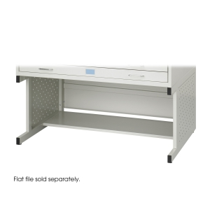 Facil Flat File High Base, Medium, Light Gray