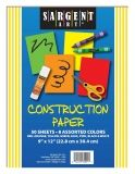 "50sht 9 X 12"" Construction Paper Solid Color Pack; 75gsm"