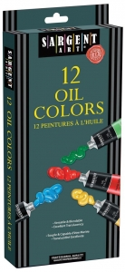 12ct Tube Oil Colors Set; 144ml (12 X 12); 4.9oz.