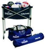 Spalding Volleyball Navy Volley caddy on Casters