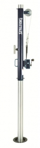 Spalding Volleyball Telescoping Multi-Sport Aluminum Winch End Upright with Antennae Package