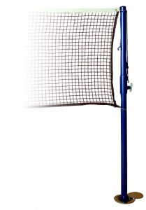 Spalding Badminton System with 2 Tubing Uprights and 20' Mesh Net