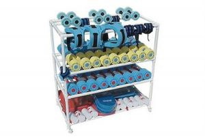 Small Aerobic Equipment Rack