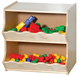 "Toddler Storage Unit, 22""H x 22""W x 18""D"